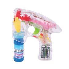 5 Light Up Bubble Blowing Guns LED Flashing Toys