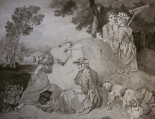 FRANCIS WHEATLEY `RURAL REPOSE, LÄNDLICHE RUHE', INNOCENZO GEREMIA, PROOF ~1800