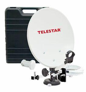 TELESTAR Camping Sat-Anlage im Koffer mit LNB, Kompass, und 10m Kabel HDTV mobil