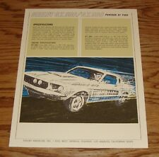 1967 Ford Shelby GT 350 GT 500 Sales Brochure Sheet 67