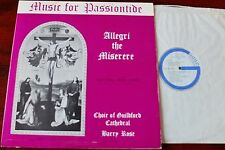 GUILDFORD CATHEDRAL CHOIR MUSIC FOR PASSIONTIDE LP ROSE GUILD (1967) TREBLE