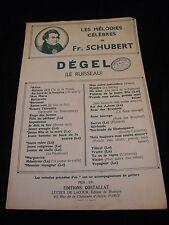 Partition Dégel Le ruisseau Fr Schubert Music Sheet
