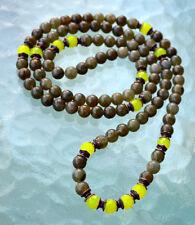 Buddhist Chant Mala Beads Mantra Beads 8 mm Power Stone Labradorite & Lime Jade