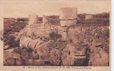 CYPRUS POSTCARD FAMAGUSTA RUINS OF THE SALAMIS MARKET AD 648 AVEDISSIAN NO 28