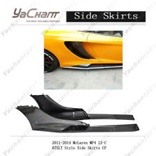 Carbon Fiber Kit Fit For 2011-2014 McLaren MP4 12-C 675LT Style Side Skirt 6PCS