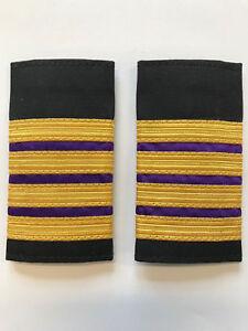 4 Bar Merchant Marine Engineer Epaulette, Gold Stripe Epaulettes