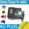 Aftermarket Battery Charger for Makita DC18RC 14.4V 18V Li-ion DC18RA DC18SD AU
