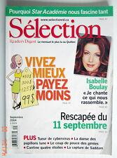 SÉLECTION DU READER'S DIGEST DE SEPTEMBRE 2004, EN COUVERTURE ISABELLE BOULAY
