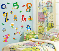 Large Animal NUMBERS 123 Wall Sticker Nursery Kids Bedroom Decor Early Learning