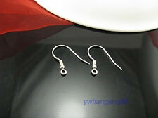 1000pcs High Quality Stainless Steel Silver Hook Coil Ear Wire Earring Findings