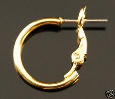 Pierced Hoop Earrings 1/2inch - Nickel Fee