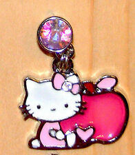 Hello Kitty Pink Apple teachers pet Cell phone dust cover Plug