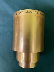 Vintage ISCO Gottigen 80mm FL F2.0 Cinelux 35mm Projection Lens used good