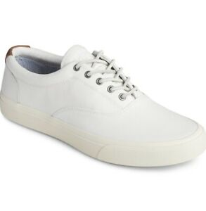 Sperry Mens Striper Plush Wave CVO Casual Sneakers Shoes Color White Chz Size