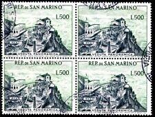 SAN MARINO 1958 586 gestempelt im VIERERBLOCK 280€(J9007