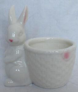 Yankee Candle T/L Tea Light Holder Spring White & Pink EASTER BASKET