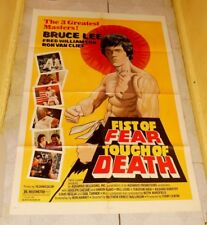 original FIST OF FEAR TOUCH OF DEATH one-sheet poster Bruce Lee Fred Williamson