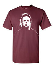 Michael Myers Mask Halloween Trick or Treat Funny Men's Tee Shirt 1262