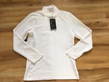 NWT Nike Women's Dri-Fit UPF 40+ 1/4 Zip Sweater Size Small White Athletic