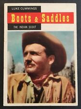 Vintage 1958 Topps TV WESTERNS card #66 LUKE CUMMINGS INDIAN SCOUT combined ship