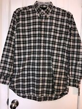 Ivy Crew Men's Button Front Shirt Gray/black Long Sleeve Size M pocket
