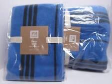 New Pottery Barn Fleece Twin Duvet Cover + Standard Sham, Stripe Navy!