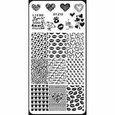 Para Uñas Stamping Placa Imagen Decoración Día de San Valentín Amor Corazones Labios (XYZ19)