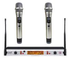 Staraudio Dual Channel Uhf Handheld Wireless Microphone System 2Ch Church Mic
