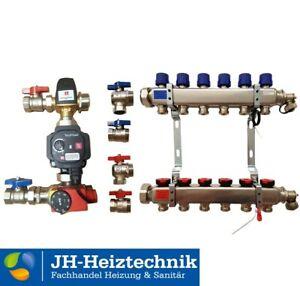 Edelstahl Heizkreisverteiler mit Durchflussbegrenzer (DFB), Fussbodenheizung