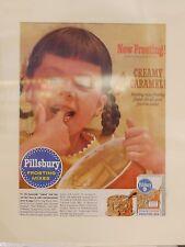 Original 1956 Vintage Advert ready to framed Pillsbury Frosting Mix Baking Cake