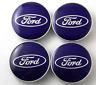 4 x Nabenkappen Ford 60mm, Blau, Nabenabdeckung, Nabendeckel,Abdeckung Radnabe