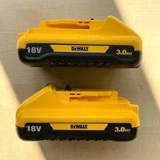 2 X Genuine DEWALT DCB187 XR 18v 3.0ah Li-ion Battery *TWIN PACK*