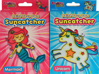 Set Of 2 Make Your Own Suncatchers - Mermaid / Unicorn Design - Stocking Fillers