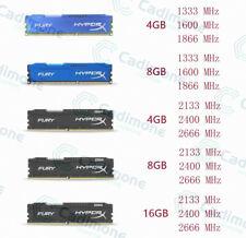 16GB 8GB 4GB DDR3 DDR4 1333 1600 1866 2133 2400 2666Mhz RAM For HyperX FURY Lot