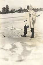 WWII Org Ger Large (2.75 x 4.0) RP- Winter Camouflage- Skis- Helmet- SMG MP-40