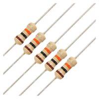 50 X 1/4W 250V 10K Ohm Axial Lead Carbon Film Resistors X5E1