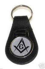 Leather Keyring featuring Masonic Design