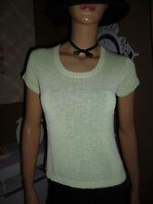 H&M Damen Strick-Pullover Kurzarm in Pistazie Gr. S aus Viskose-Polyester Neu