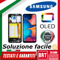 DISPLAY LCD+TOUCH SCREEN+FRAME ORIGINALE OLED SAMSUNG GALAXY A20E SM-A202F VETRO