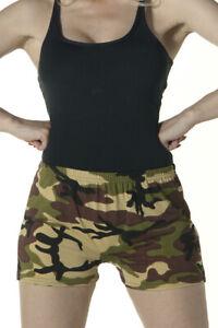 Womens Ladies Stretchy Elasticated Hot Pants Shorts Girls Dance Club Gym Shorts