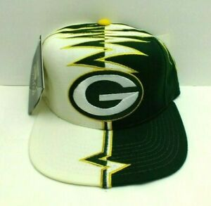 GREEN BAY PACKERS 90'S HAT AUTHENTIC VINTAGE SHOCKWAVE ADJ CAP BY STARTER NEW
