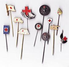 Vintage RED CROSS pin badges brooches Rode Kruis Rotes Kreuz Medical Nurse Logo