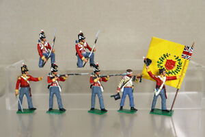 TRADITION of LONDON NAPOLEONIC BRITISH 44th REGIMENT of FOOT with COLOUR nz