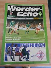 Werder Echo Werder Bremen vom 06.05.1989 gegen 1 FC Köln