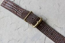 Gold keepers 1940s/50s American vintage 16mm watch strap stitched Genuine Lizard