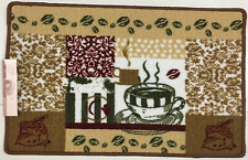 KITCHEN COLLECTION RUG WITH NON SKID BACK, COFFEE CUP