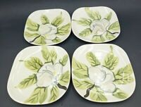 Vintage Red Wing Magnolia Chartreuse Bread Plates Set of 4