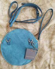 NWT MONSERAT DE LUCCA NOA CIRCLE LIGHT BLUE  DIED PONY HAIR SMALL BAG WRISTLET