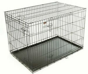 Rac Fold Flat Steel Carrier With Mattress Pet Dog Crate Cage Small