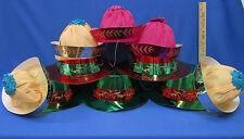 Party Hat  Metallic Top Hats & Crepe Paper Sailor Beanie Hats Lot of 10